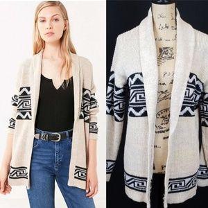 Ecote pattern cardigan shawl oatmeal Aztec Rk:8:71